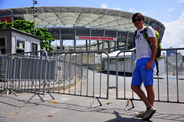 Jure outside the stadium