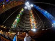 Inside the Catedral Metropolitana de São Sebastião