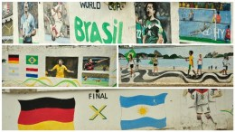 Graffiti about the World cup 2014