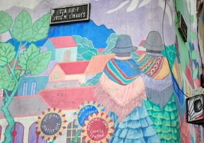 Beautiful wall painting in La Paz