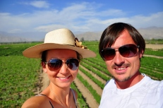 Us at Tacama winery - What do you say about my hat?