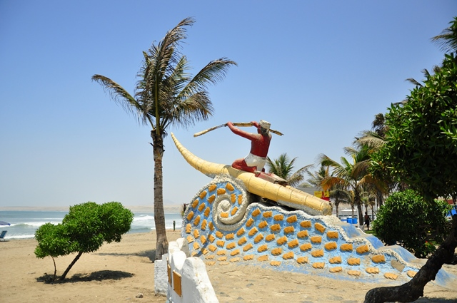 Caballito de totora boat - one of the first surf crafts