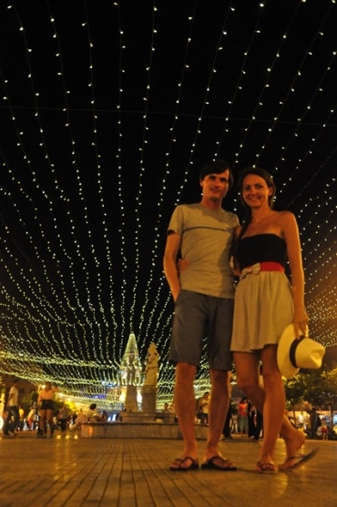 Christmas lights in Cartagena