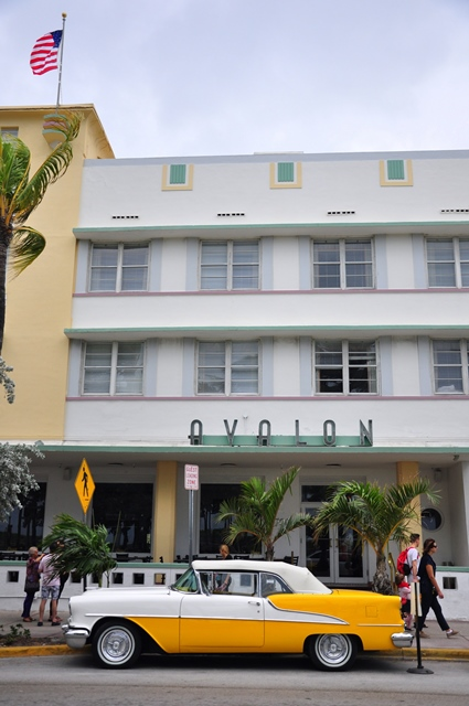 Art deco district on Miami beach