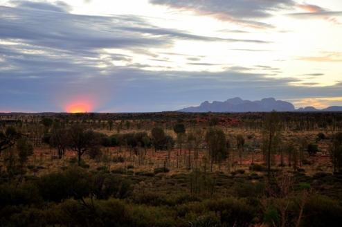 Sunset with Kata Tjuta
