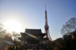 Zojoji Temple with Tokyo Tower in the background
