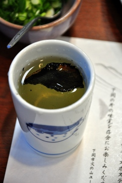 Sake with Fufu´s fin