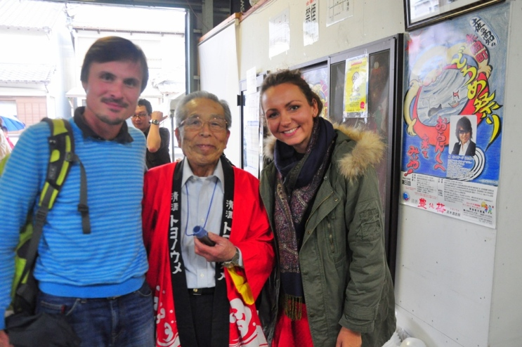 With the sake factory owner