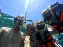 Snorkelling buddies