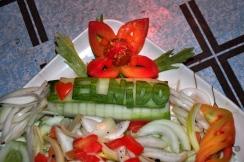 Cute dinner arrangement