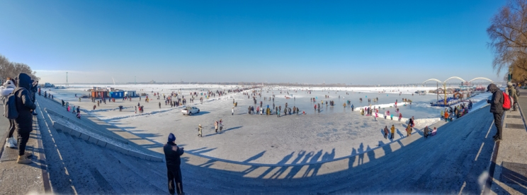 Harbin frozen river