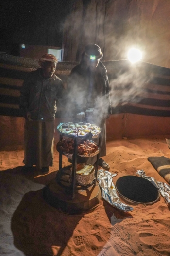 Bedouin cooked lunch